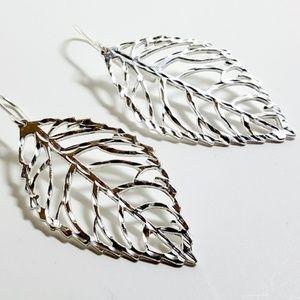 Giani Bernini Sterling Silver Leaf Drop Earrings